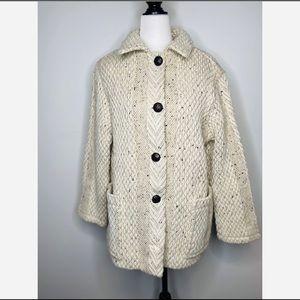 Branigan vintage wool weave Oversized Coat Ireland